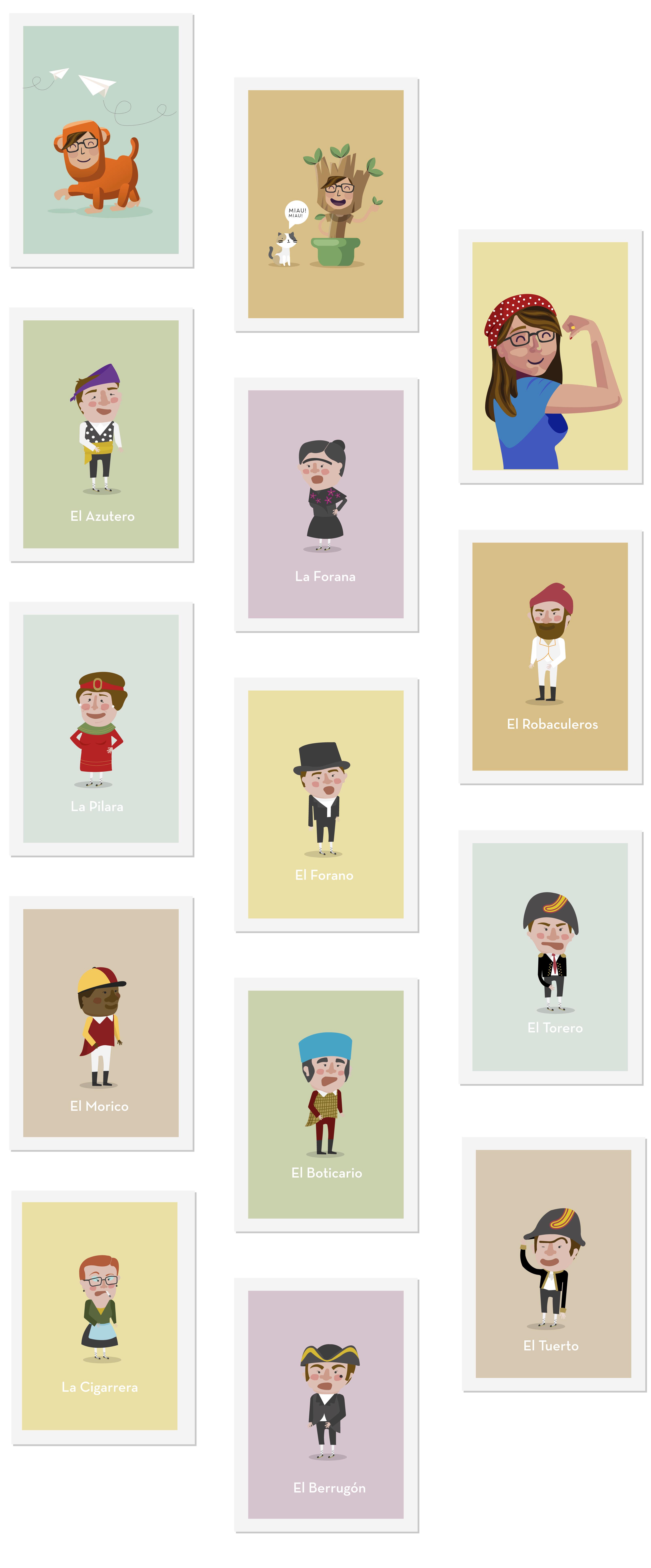Ilustración de personajes