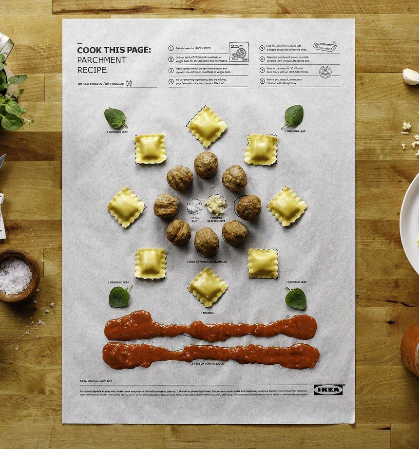 IKEA, recetas del papel a la boca